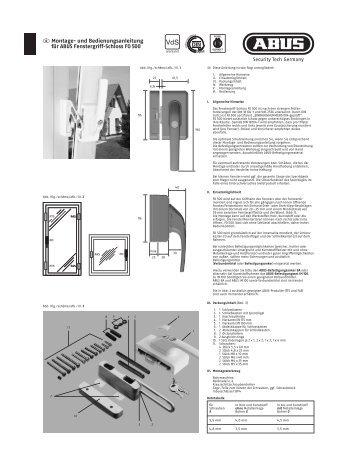 D Montage- und Bedienungsanleitung für ABUS Fenstergriff ...