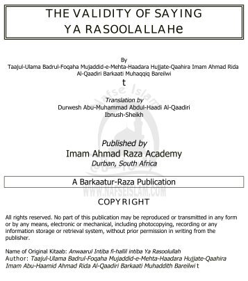 RASOOLALLAHe - Nafseislam.Com