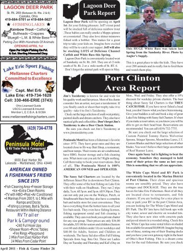 Port Clinton Area Report - Fish and Game Finder Magazine