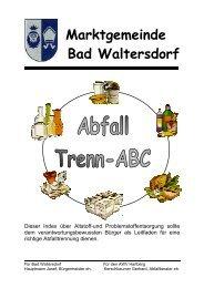 abfallart zugehörigkeit entsorgung - Gemeinde Bad Waltersdorf