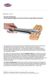 Gesunder Grill-Genuss: mit den pfiffigen Gadgets von Chef'n wird ...