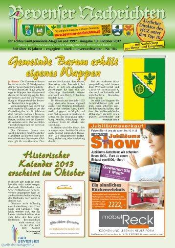 Oktober 2012 - Bevenser Nachrichten