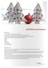 Stoff-Weihnachtsbäume - For me