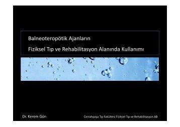 Uzm. Dr. Kerem Gün - Türkiye Fiziksel Tıp ve Rehabilitasyon Derneği