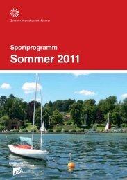 Sportprogramm München Sommer 2011 - ZHS