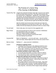 Lesson 2 - The Promise of a Savior King - Sunday School Center