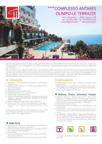 COMPLESSO ANTARES OLIMPO-LE TERRAZZE - Parc Hotels Italia