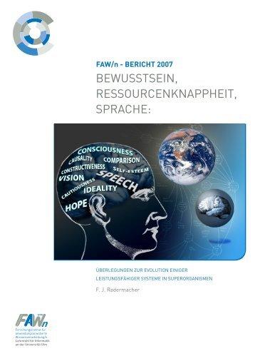 FAW/n - BERICHT 2007 - Haus der Wissenschaft Braunschweig