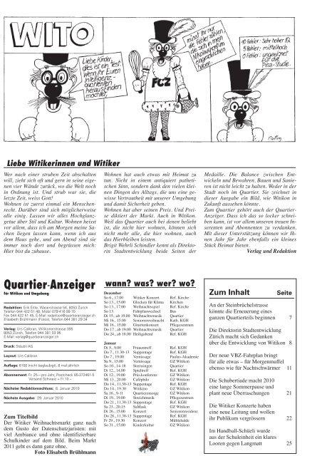 Quartier-Anzeiger 2009-08 - Quartier-Anzeiger Archiv - Quartier ...