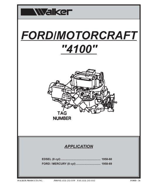 Ford Motorcraft 2100 2150 4100 Throttle Lever Roller