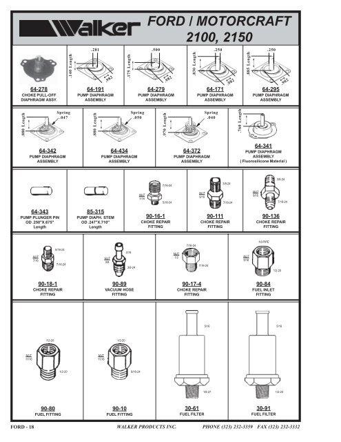 Vacuum Hose Fitting 3/8-24 x 3/16 Ford Motorcraft 2100-2150