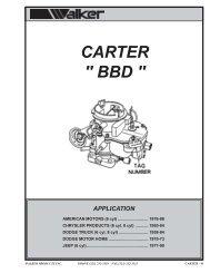 CARTER 2 BARREL - Walker Products