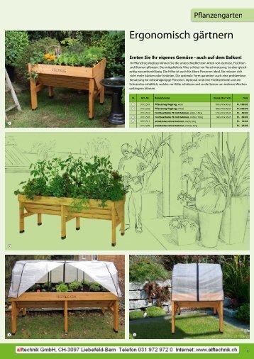 Ergonomisch gärtnern - Alftechnik