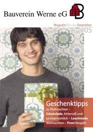 Mitgliederzeitung 2005/12 - Bauverein Werne eG