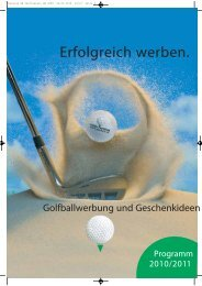 13 Markenbälle für wirksame Golfballwerbung - FG1.at Werbeartikel