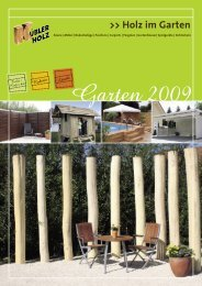 Holz im Garten - Kuebler-Holz