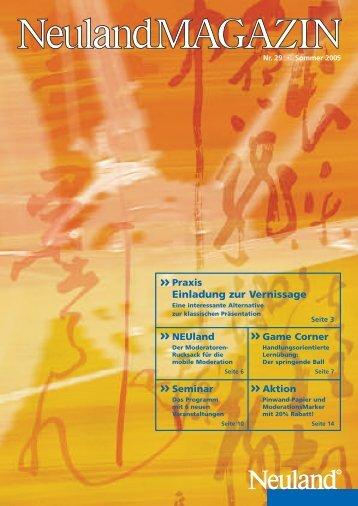 Praxis Einladung zur Vernissage - Neuland AG
