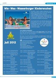 Juli 2012 Wie–Was–Wasserburger Kinderwochen - Nonnenhorn