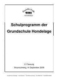 Schulprogramm der Grundschule Hondelage - der GS Hondelage