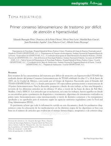 Primer consenso latinoamericano de trastorno por déficit de ...