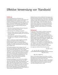 Effektive Verwendung von Titandioxid [.pdf] - DuPont