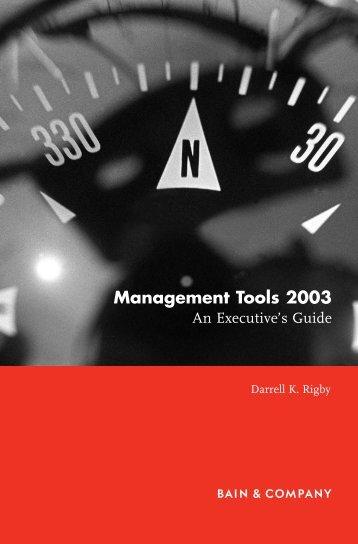 Management Tools 2003