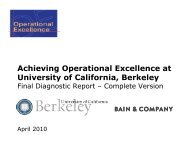 Achieving Operational Excellence at University of California, Berkeley