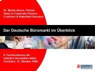 Der Deutsche Büromarkt im Überblick