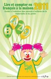 Guide à l'intention des parents d'enfants de la maternelle ... - CFORP