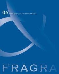 Geschäftsbericht 2006 - Art & Fragrance
