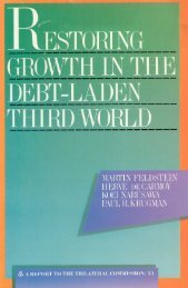 Restoring Growth in the Debt-Laden Third - Trilateral Commission
