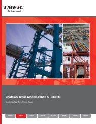 Container Crane Modernization - Tmeic.com