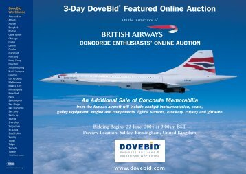 An Additional Sale of Concorde Memorabilia