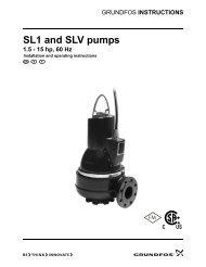 SL1 and SLV pumps 1.5 - 15 hp, 60 Hz - Grundfos