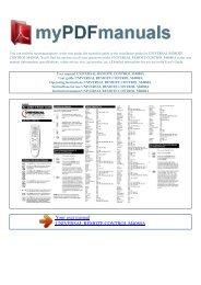 User manual UNIVERSAL REMOTE CONTROL M4080A - 1