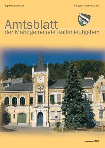EINTRITT FREI Hauptplatz - Marktgemeinde Kaltenleutgeben