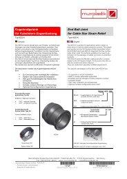 Kugelendgelenk für Kabelstern-Zugentlastung End Ball-Joint for ...