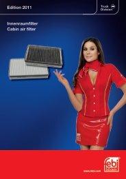 Innenraumfilter Cabin air filter Edition 2011