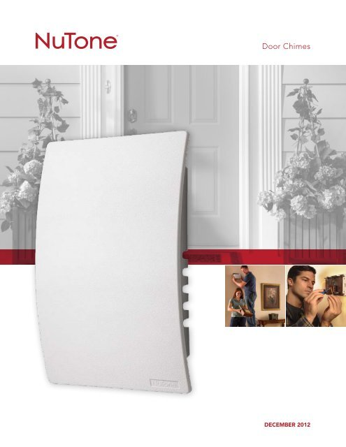 White Broan-NuTone NuTone LA100WH Decorative Wired Two-Note Door Chime
