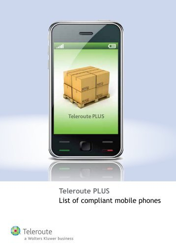 List of compliant mobile phones for Teleroute PLUS