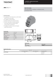 luxcontrol lighting control system DALI control units DALI PS2 ...