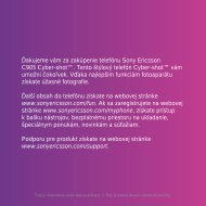 Sony Ericsson Mobile Communications AB - Dobirkamobil.cz