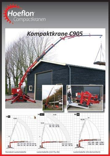Kompaktkrane C905 - Hoeflon compactkranen