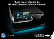 Thank you for choosing the HP PHOTOSMART eSTATION C510 ...