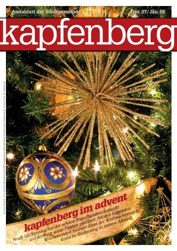 Amtsblatt der Stadtgemeinde - Stadtgemeinde Kapfenberg