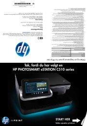 Tak, fordi du har valgt en HP PHOTOSMART eSTATION C510 series