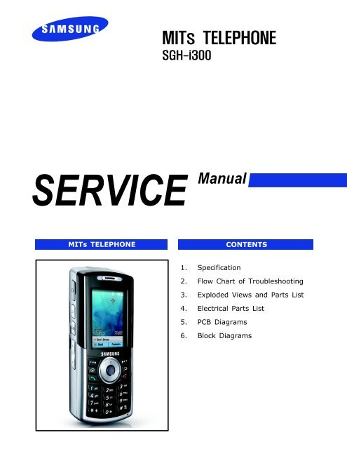 Samsung SGH i300 Service Manual pdf - Mike Channon