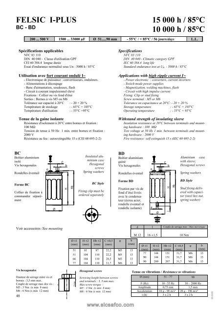 FELSIC I-PLUS 15 000 h / 85°C 10 000 h / 85°C - Acal Technology