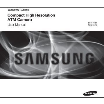 Compact High Resolution ATM Camera - Samsung