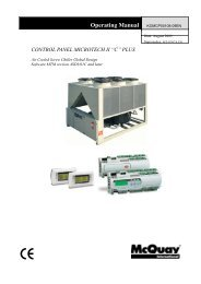 MicroTech II for centrifugal chillers - Operating Manual - McQuay